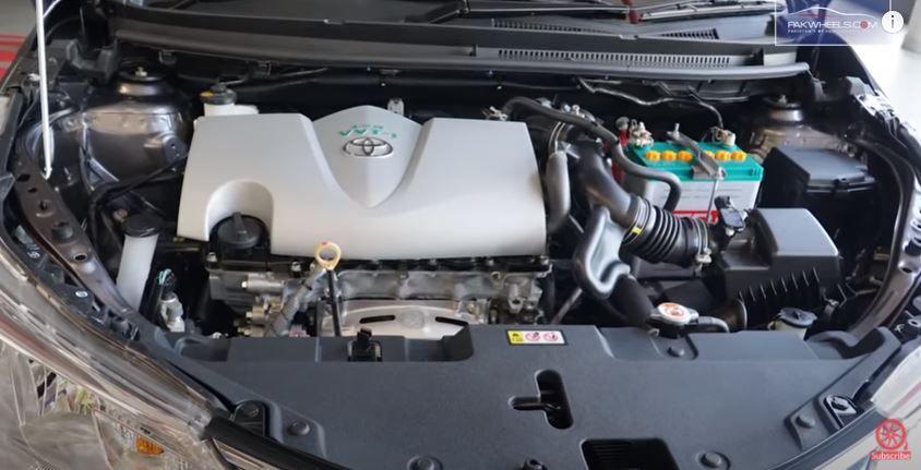 Toyota Yaris inside bonnet